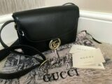 GUCCI BLACK LEATHER GG RING CROSSBODY/SHOULDER BAG RETAIL £1760 MADE IN ITALY