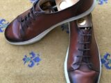 Gucci Mens Shoes Brown Leather Trainers Sneakers UK 11 US 12 EU 45 Crest Shaded